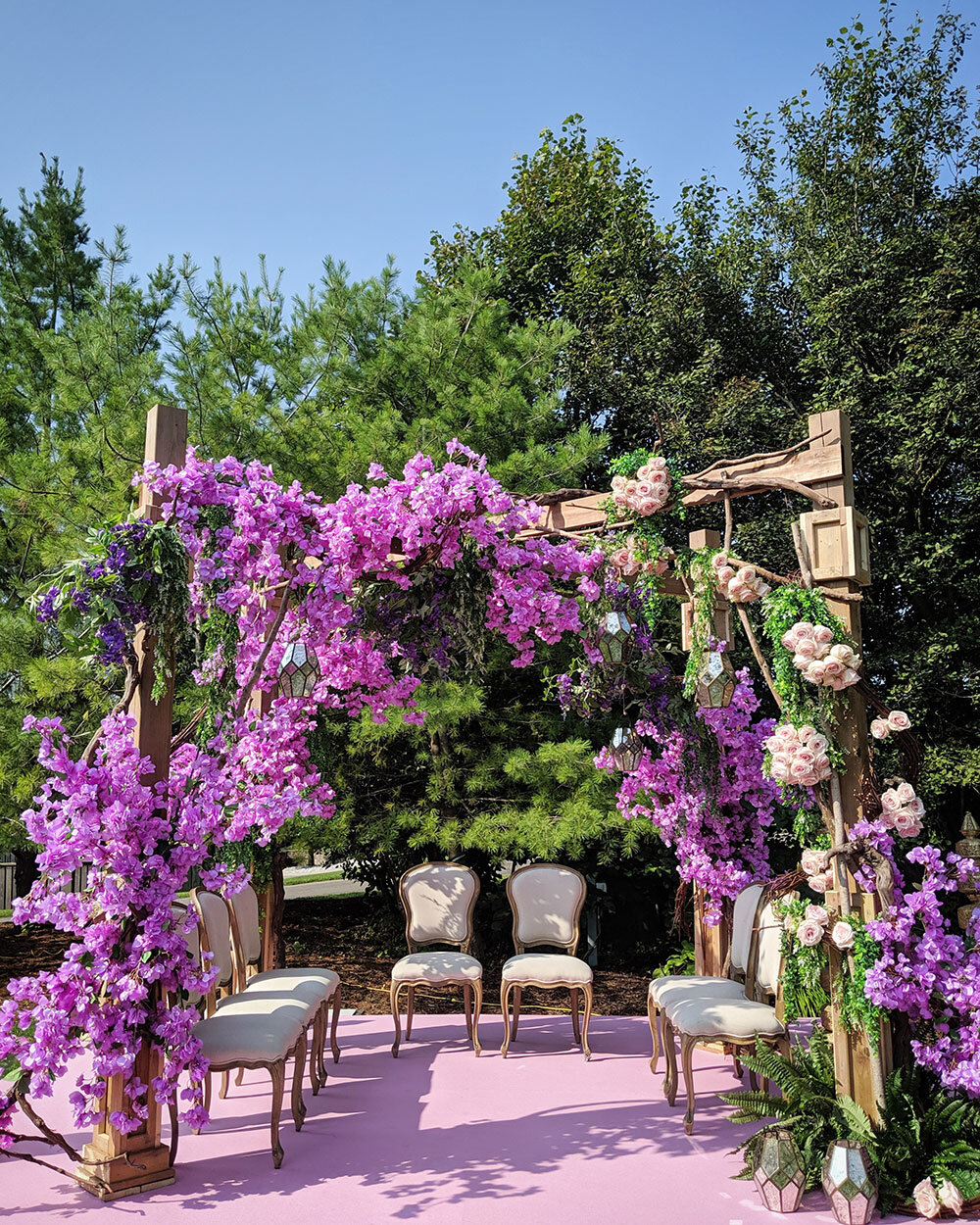 Paras-Events-Rustic-Garden-Bouganvillea-Wedding-Mandap-Rattlesnake-Point-Golf-Club-1.jpg