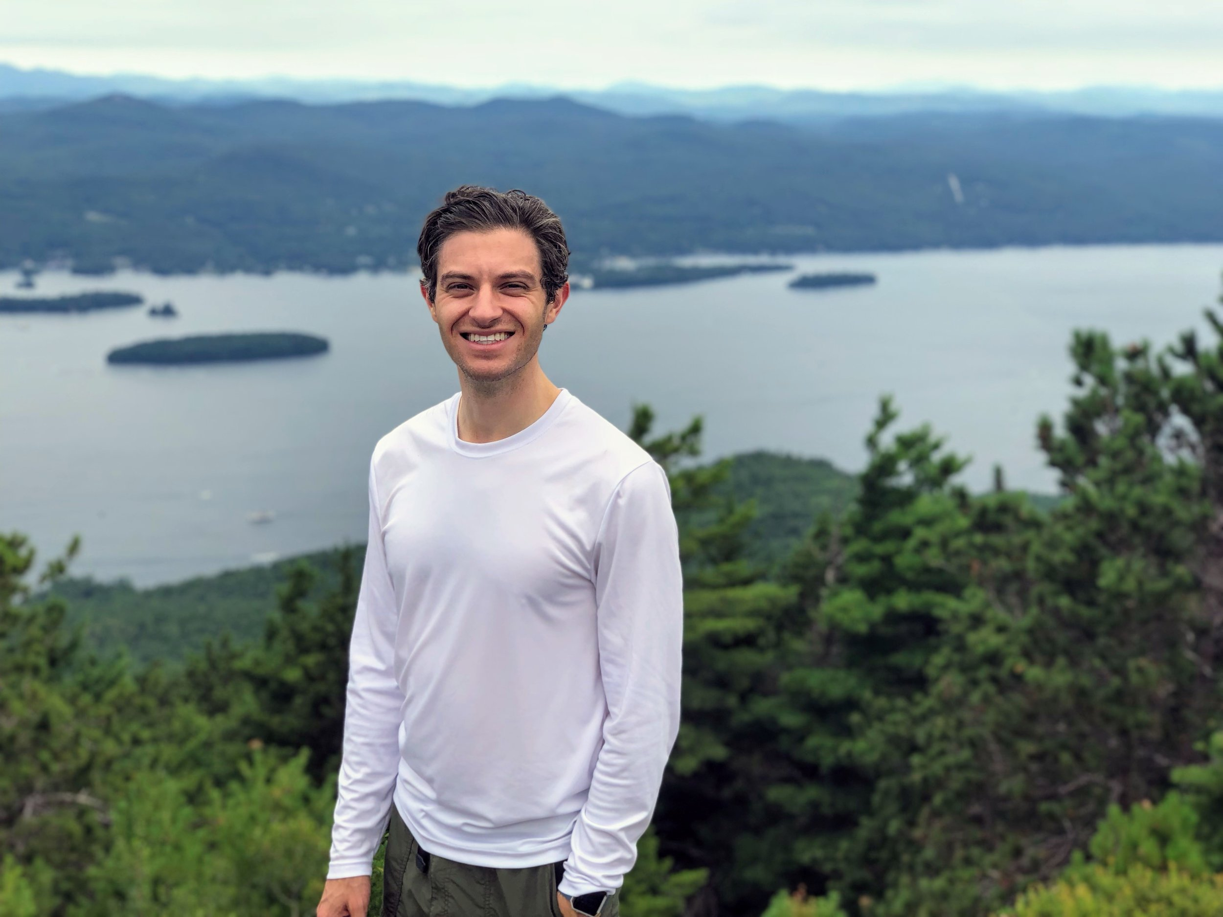 Nathan on Buck Mountain, his favorite hike in Upstate New York.