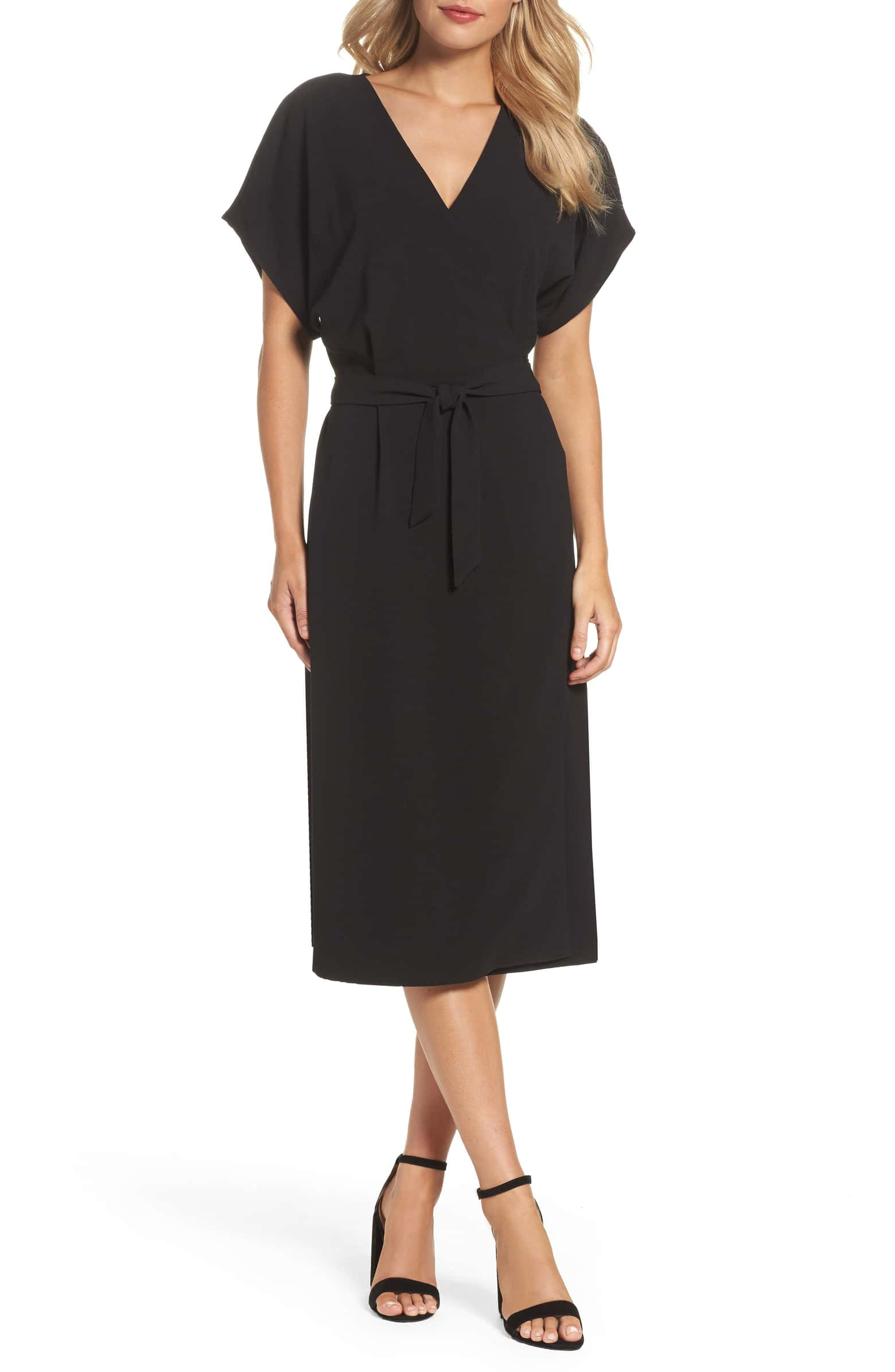 Felicity and Co. - Wait, a black dress doesn't scream spring? The lighter, open sleeve and casual tie is just the transition piece that you'll pop on every Monday when you can't bear a jacket and layers any longer.$98