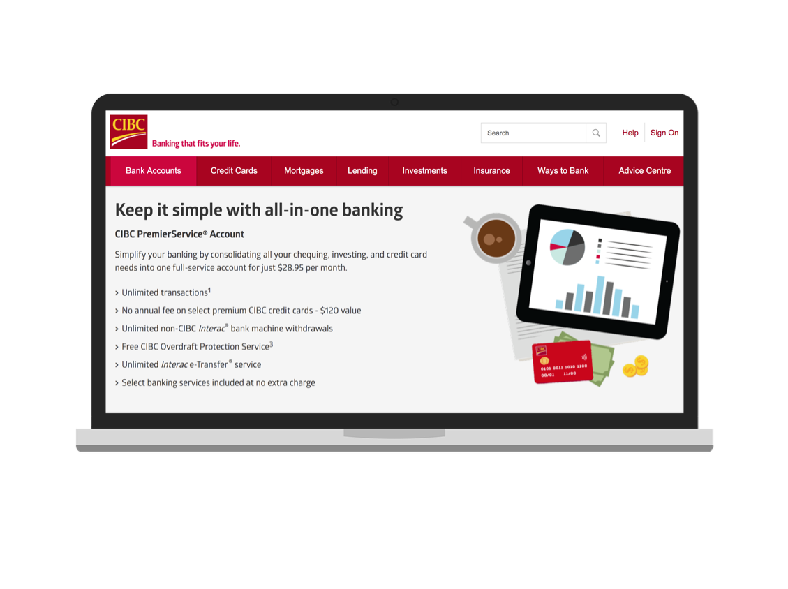 "BEFORE - Previously branded as, ""CIBC PremiereService® Account"""