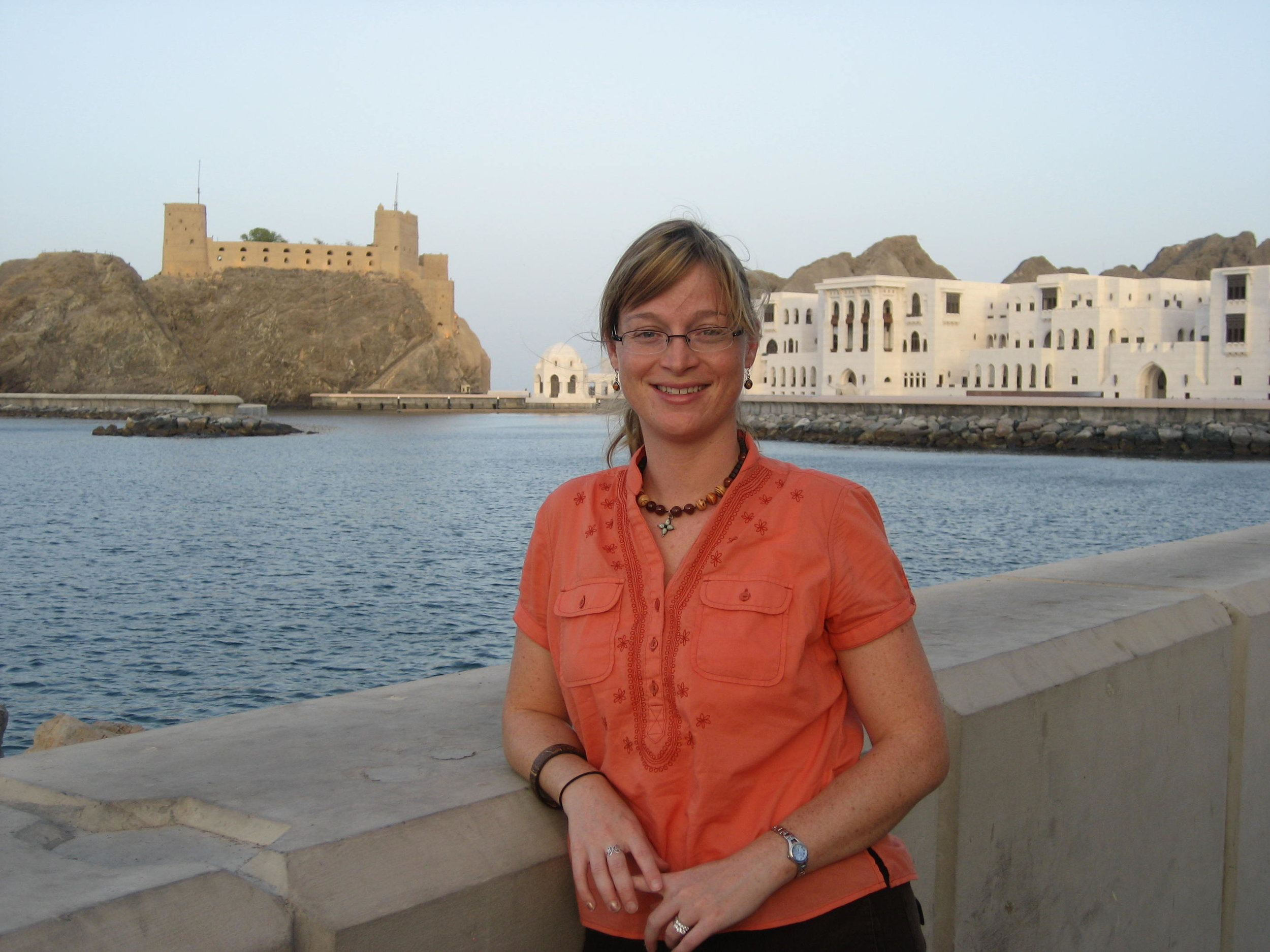 Founder, Christine traveling in Oman