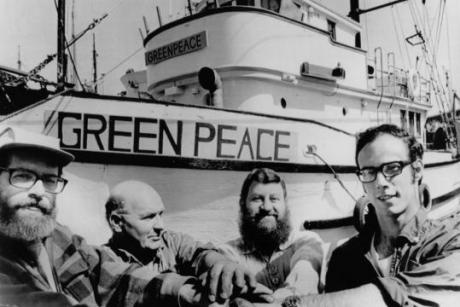 """Alaska's Nuclear Legacy - In 1971, the Don't Make a Wave (DMAW) campaign launched a direct action to protest the nuclear testing on Amchitka Island in Alaska. They would sail from Vancouver Island, BC to the Aleutians on a boat they named """"Greenpeace"""". Later, DMAW would adopt Green Peace as their official name."""