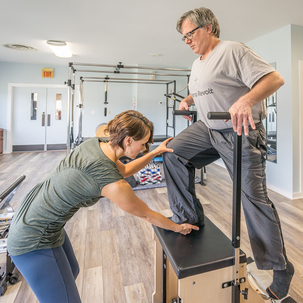 New to Pilates? - Schedule an introductory session with us! We will assess your current needs, discuss your health history and physical issues, and develop appropriate goals and objectives.