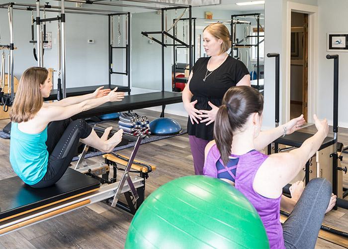 Stomach Massage on Reformer