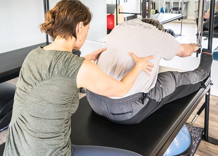 Push Through Pilates Cadillac