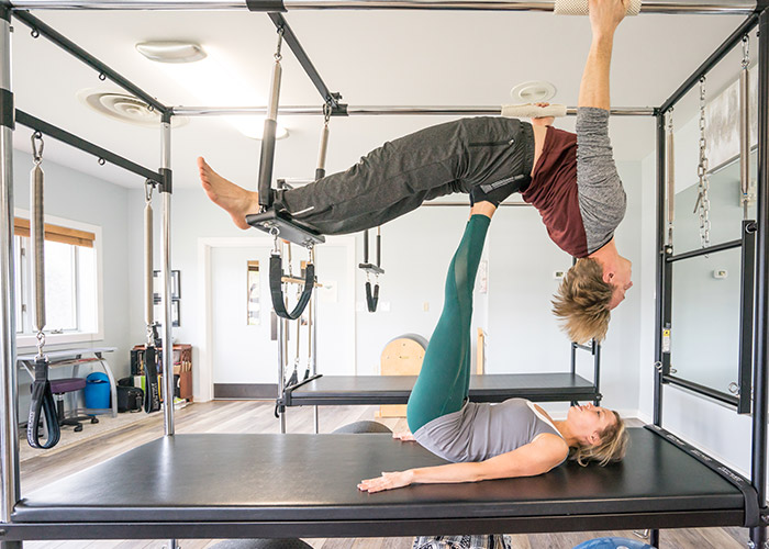 Hanging Up Pilates Cadillac