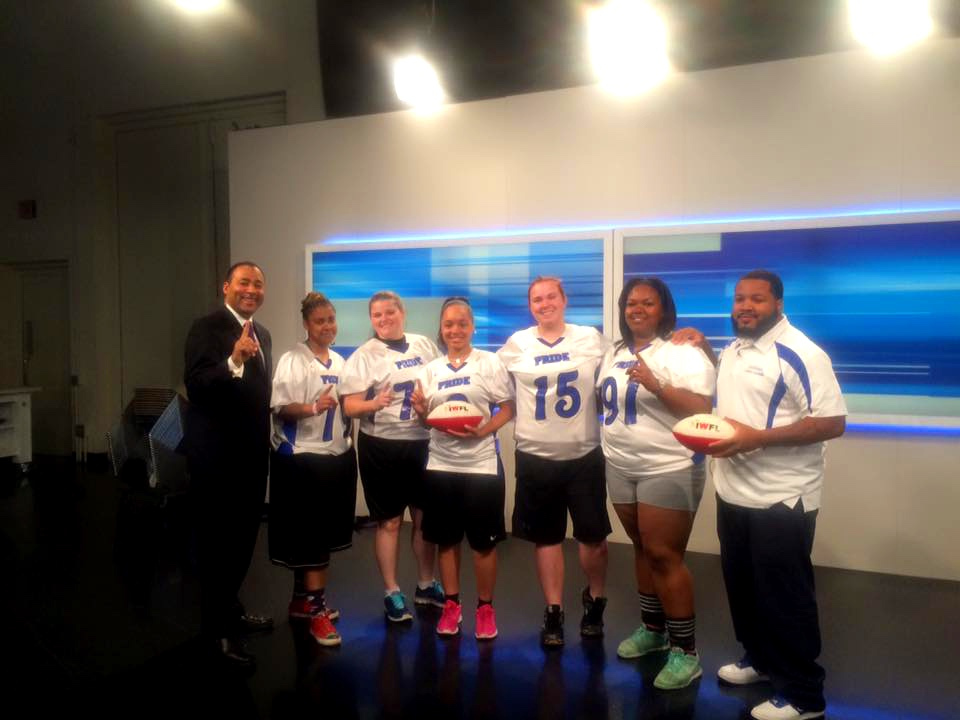 The Detroit Pride are shown above visiting Channel 4 News for a feature story prior to Opening Day 2018.