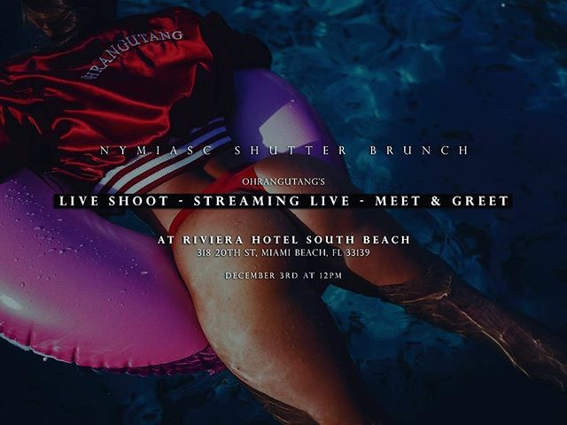 Great way to start your Saturday! #puszyvodka #southbeach #miami #Repost @ohrangutang ・・・ NYMIASC SHUTTER BRUNCH, Hope you can join us this saturday Dec 3rd, on our 1st LIVE SHOOT - STREAMING LIVE - MEET & GREET at RIVIERA HOTEL SOUTH BEACH, starting at 12pm till 6pm  #ARTBASEL 2016 @ohrangutang @ohrangutangtv @nymiasc  @sbghotels @chasingthebag Open event ;)