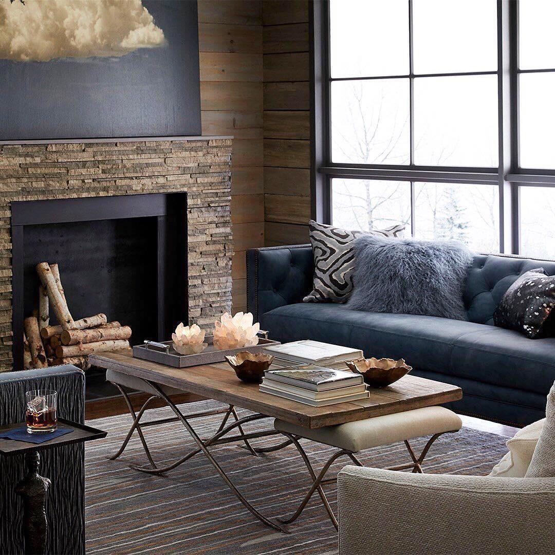 Massoud's Jillian Leather Tufted Sofa