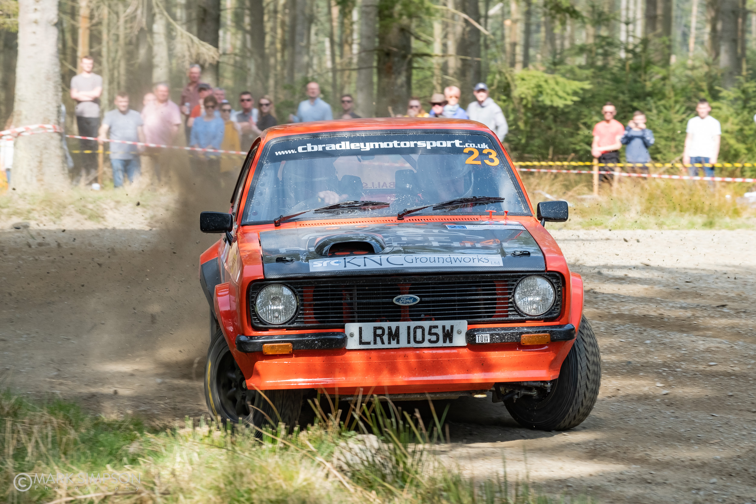 Top 2-wheel drive car, and 13th overall, Isle of Skye crew Duncan MacDonald and Neil Ross, Ford Escort Mk2.