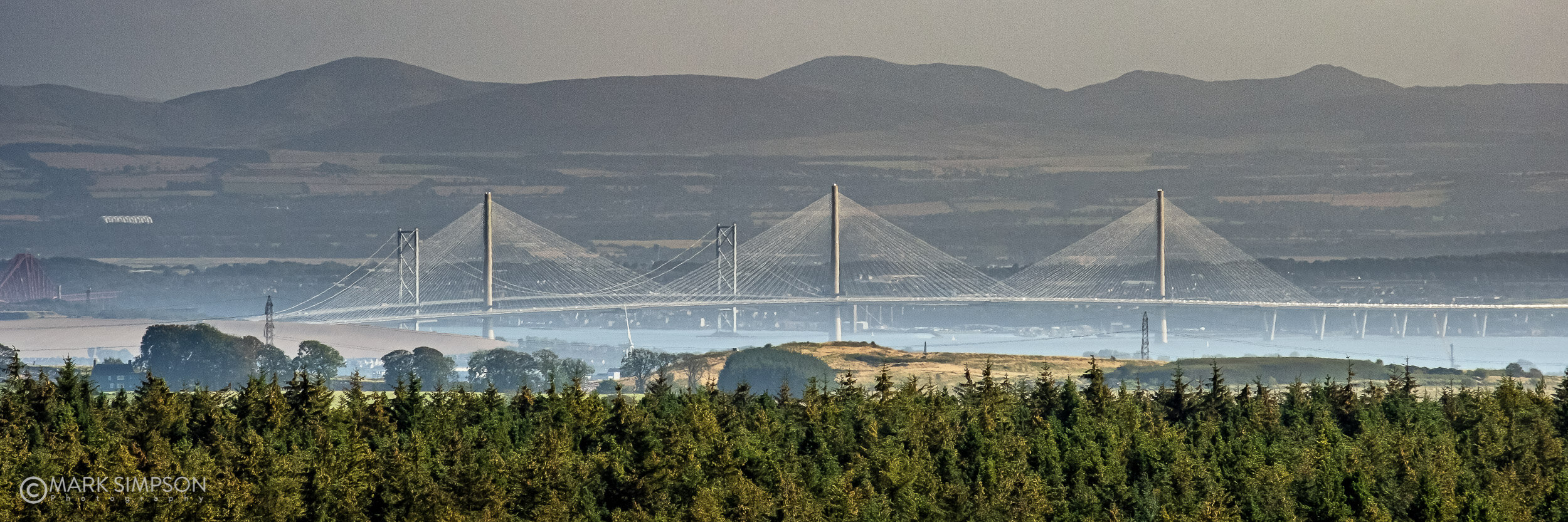 The Queensferry Crossing, the Forth Road Bridge and the Forth Rail Bridge