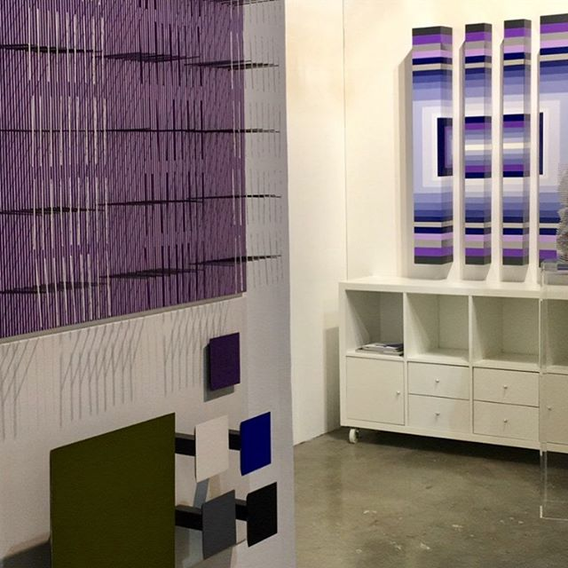 #tbt I still cannot believe this magic moment!, to share space with one of the greatest kinetic masters #jesusrafaelsoto  #pinta #artfair #art #design #contemporaryart #color #purple #blue #green #work #beautiful #adrianadorta #2017