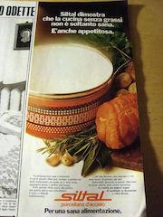 Una pubblicità degli anni '70