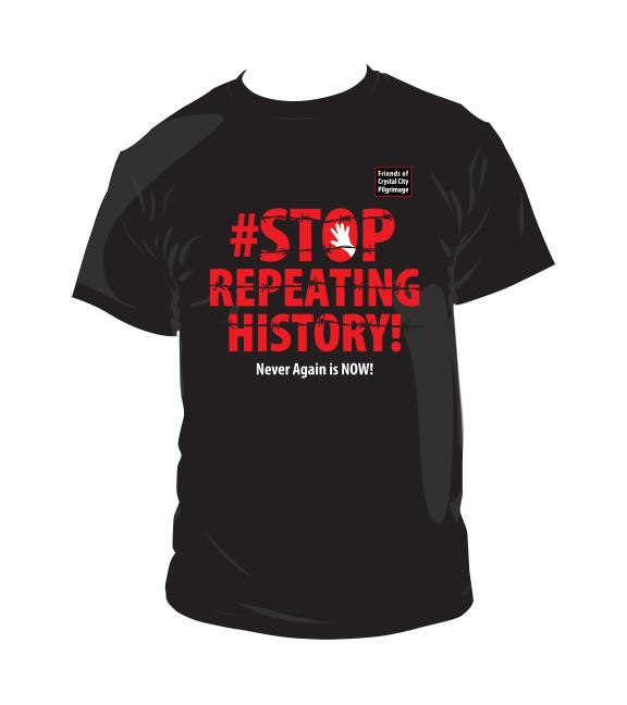 Kaz Naganuma's T-shirt (image courtesy Friends of the Crystal City Pilgrimage committee)