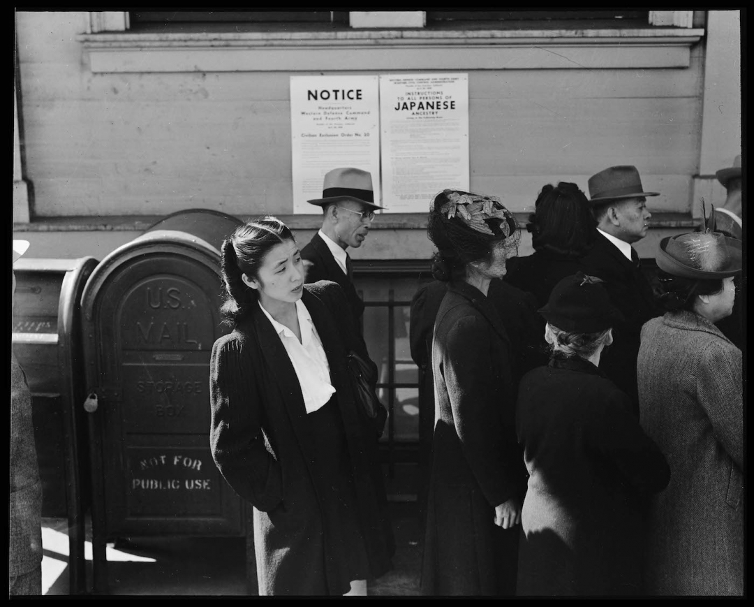 "Dorothea Lange, ""San Francisco, California"" (April 25, 1942) (National Archives)"