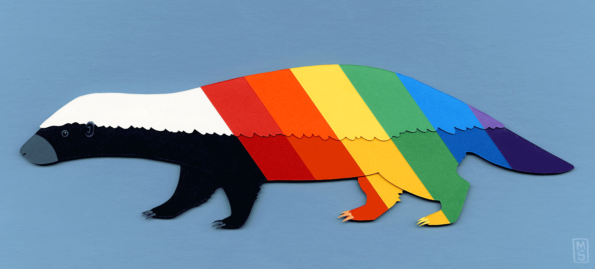 """Rainbow Badger"""