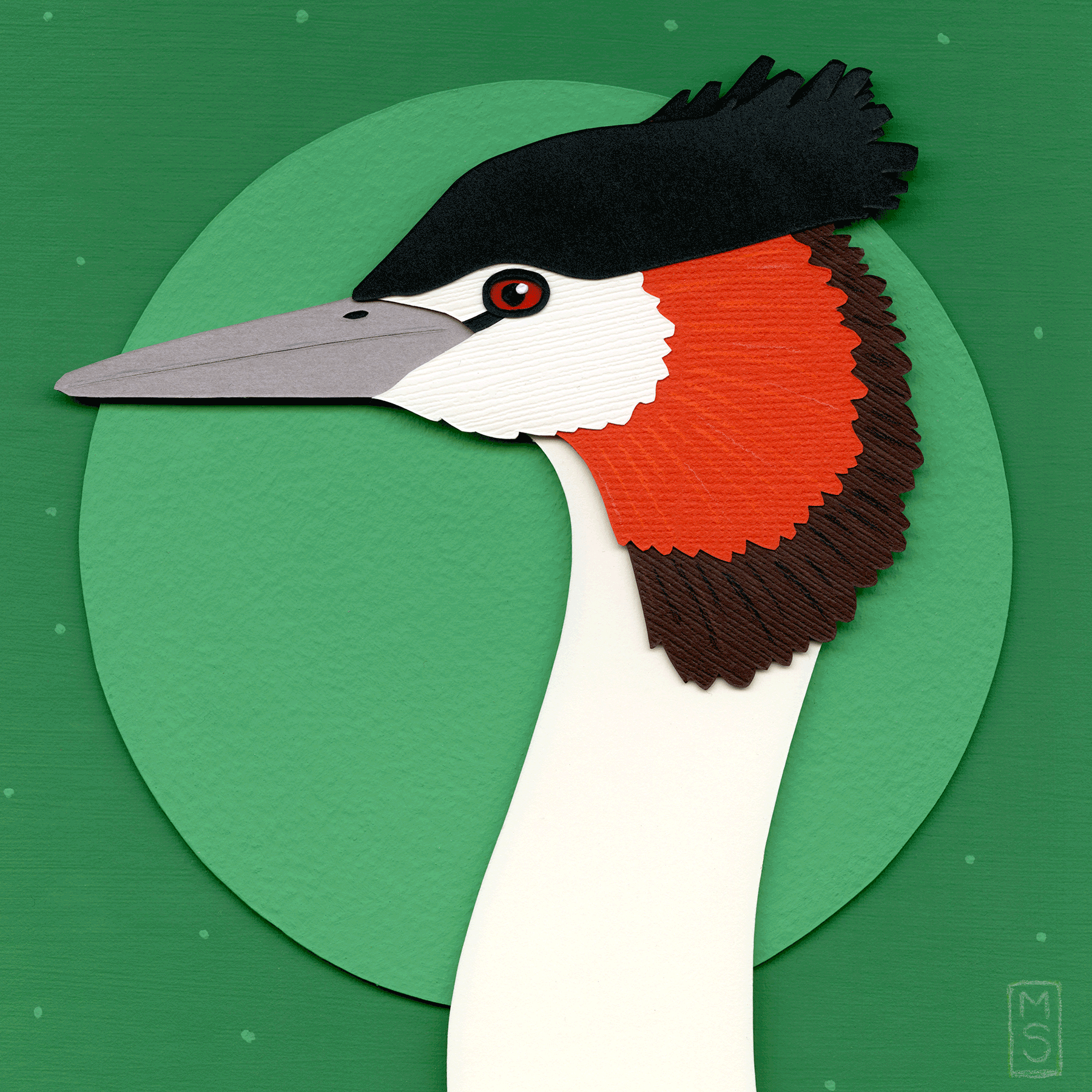 """Punk Rock Pool Float (Crested Grebe)"""