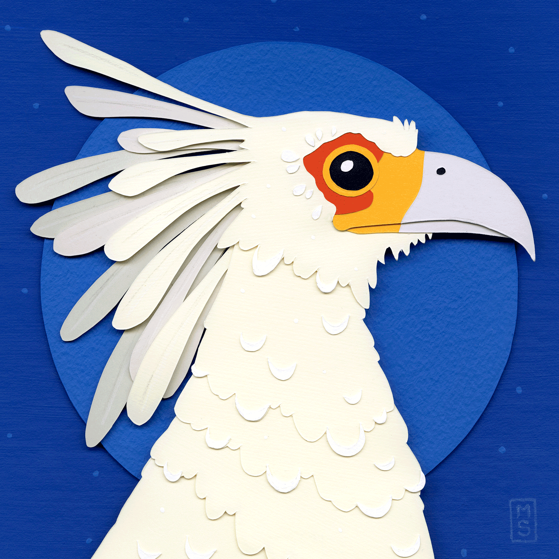 """Ghostly Grassland Assistant (Secretary Bird)"""