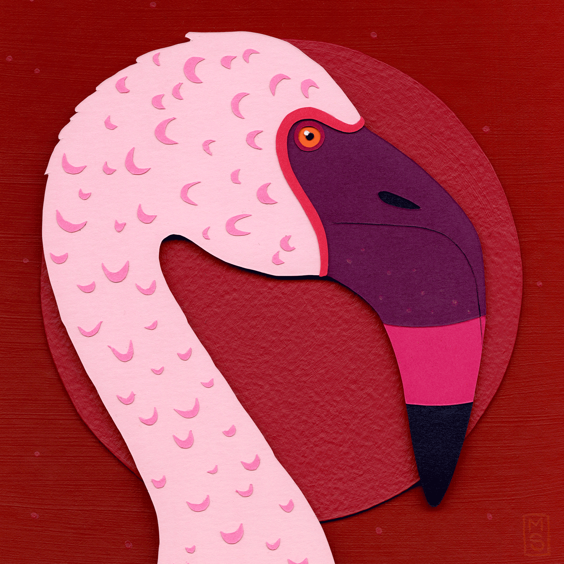 """Lawn Ornament (Lesser Flamingo)"""