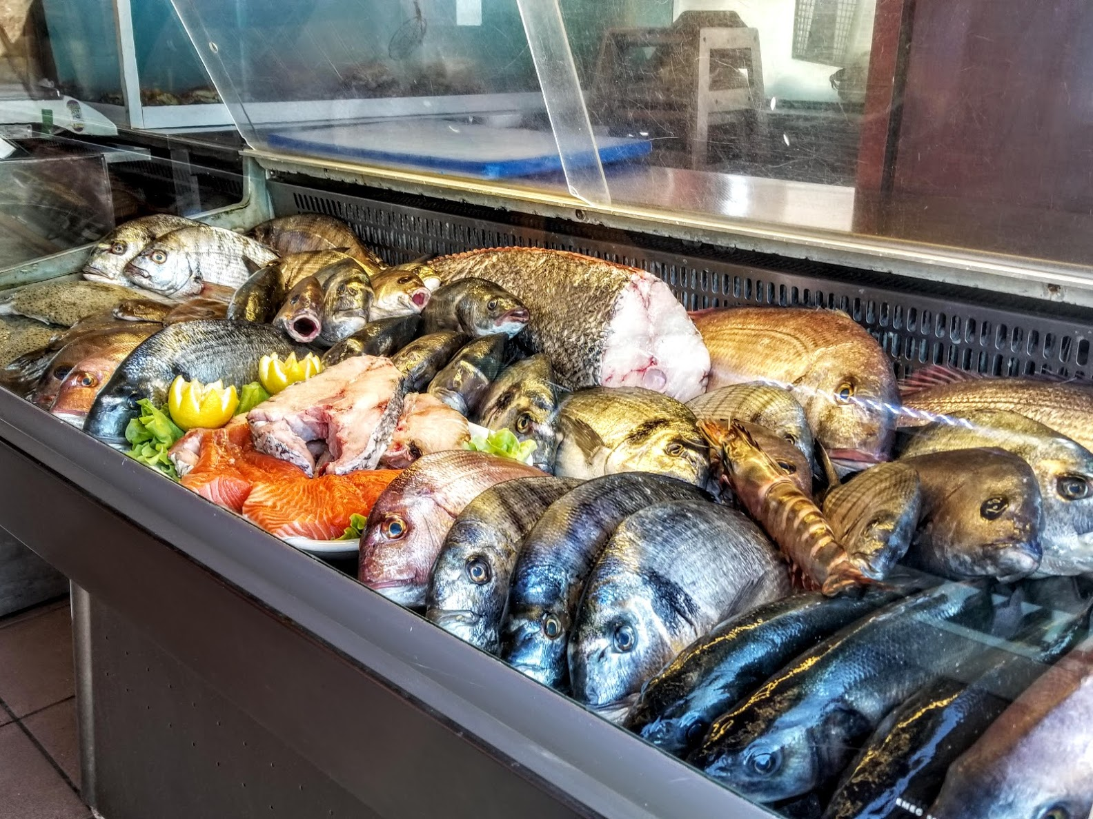 This incredible display of fresh fish is not unsual.