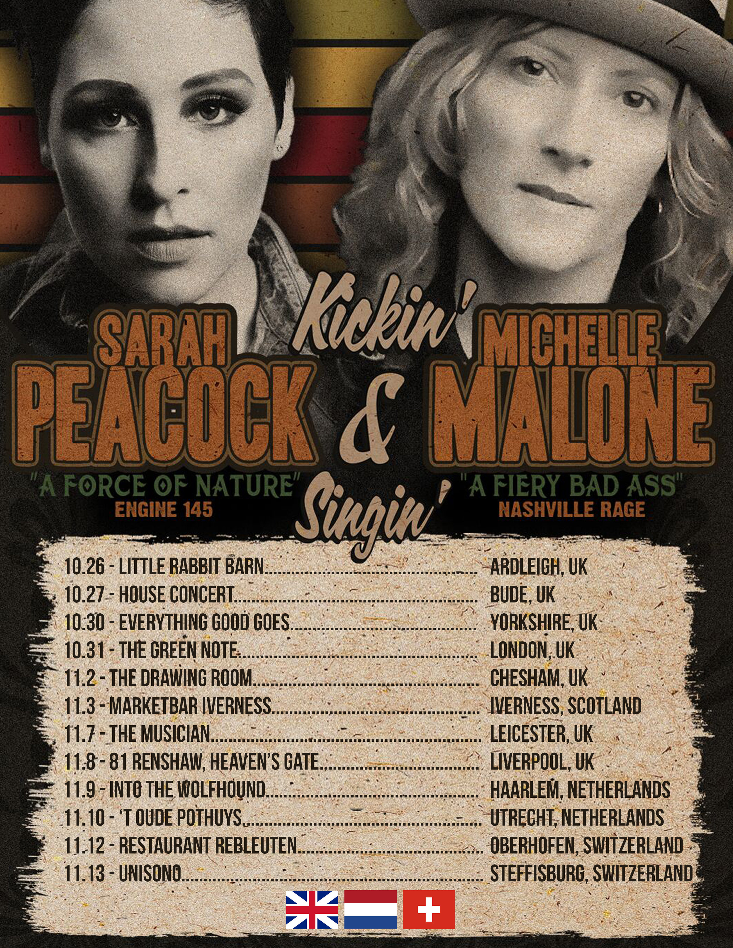 Sarah Peacock and Michelle Malone