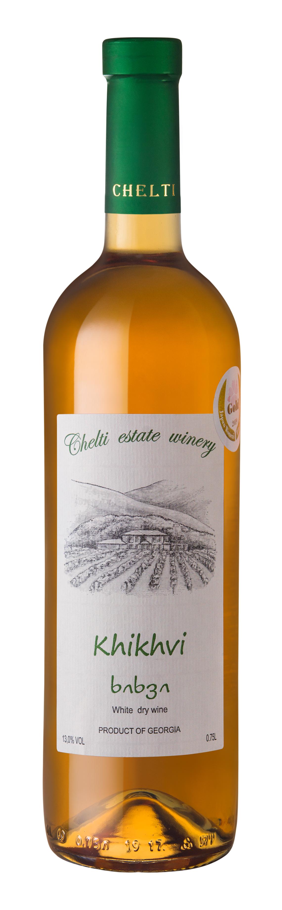 Chelti of Qvevri Amber Wine - Rkatsiteli 50%, Mtsvane 50% – White dry , Alcohol: 13% – Volume: 0.75 LDry white wine made from the Rkatsiteli and Mtsvane grape varieties, cultivated in the region of Kakheti, in the Manavi micro-zone. The wine is produced in Qvevri, the traditional clay vessel used in Georgian wine production.