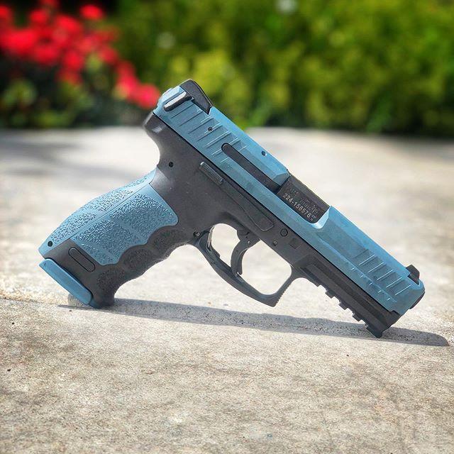 Who doesn't love blue titanium?  #cerakote #cerakotecertified #cerakotethatshit #gunsdaily #gunsofinstagram #myshitscustom #customguns #hk