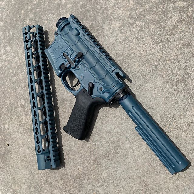 We need to unload this Receiver and hand guard set. PWS MK1 Mod 2 Ambi lower with Bootleg upper receiver and hand guard. It's coated in Blue Titanium but will recoat it with any instock color. $500 all FFL rules apply.