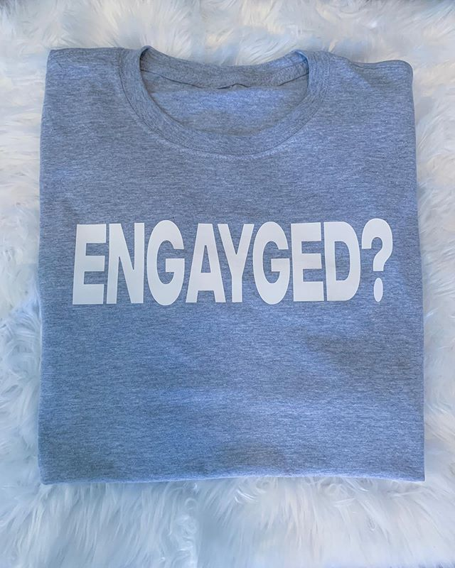 ARE YOU ENGAYGED?  Book the @bridenavy & @groomnavy for your special day Tshirt design by @tysintrell . #engayged #mrsandmrs #mrandmr #blackgaywedding #tysintrell #bridenavy #groomnavy #munaluchi