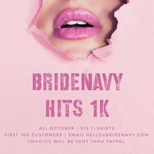 We just want to thank everyone that has been supporting BrideNavy.... . . To give back we will give 100 BrideCaptains and their BrideNavy $15 T-shirt deal for the Month of October. . . #breastcancerawareness #bridenavy #mrsandmrs #bacheloretteparty #graphicdesign #tshirtdesign #shesaidyes #atlanta