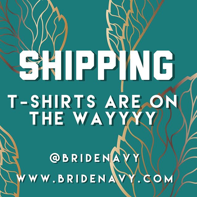Thank you for all the support T-shirts have been prepared and will be shipped out on Monday... . . #bridenavy #mrsandmrs #mrandmr #tshirts