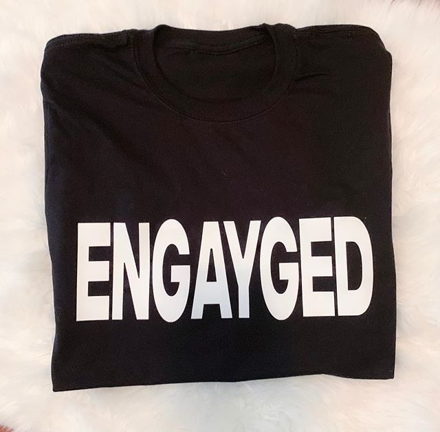 CONGRATULATIONS to all the BrideCaptains who just got ENGAYGED. We would love to help you celebrate by creating custom T-shirts and gifts.  Shoot us an email or DM today.  Shirt created by @bridenavy . . #theneighborhoodtalk #bridenavy #atl #mrsandmrs #sheputaringonit
