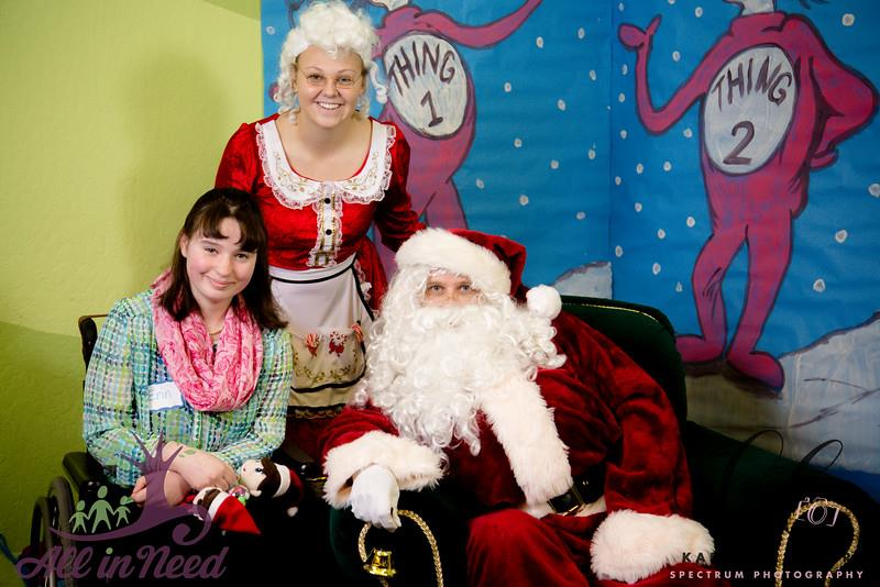 Cookies with Santa - Join All in Need children and parents and enjoy crafts, cookie decorating, games, sensory activities, and the main event, visiting with Santa. Families are welcome to attend together.