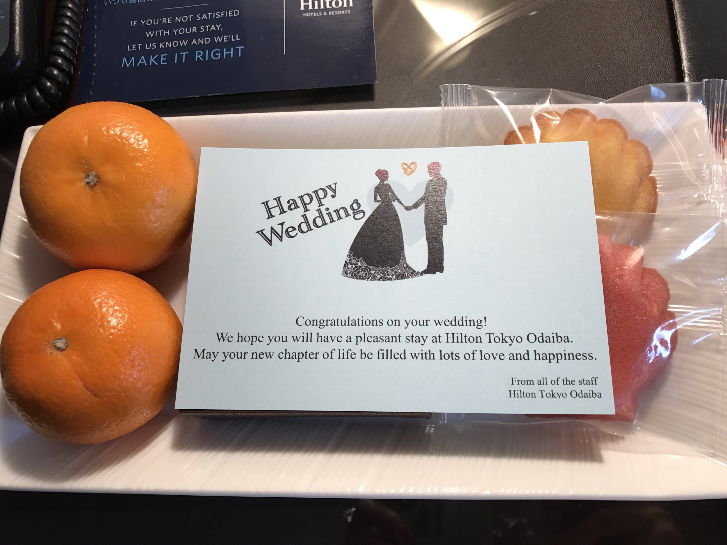 We were welcomed with a little gift since we were visiting for our honeymoon. Such a cute and kind gesture.