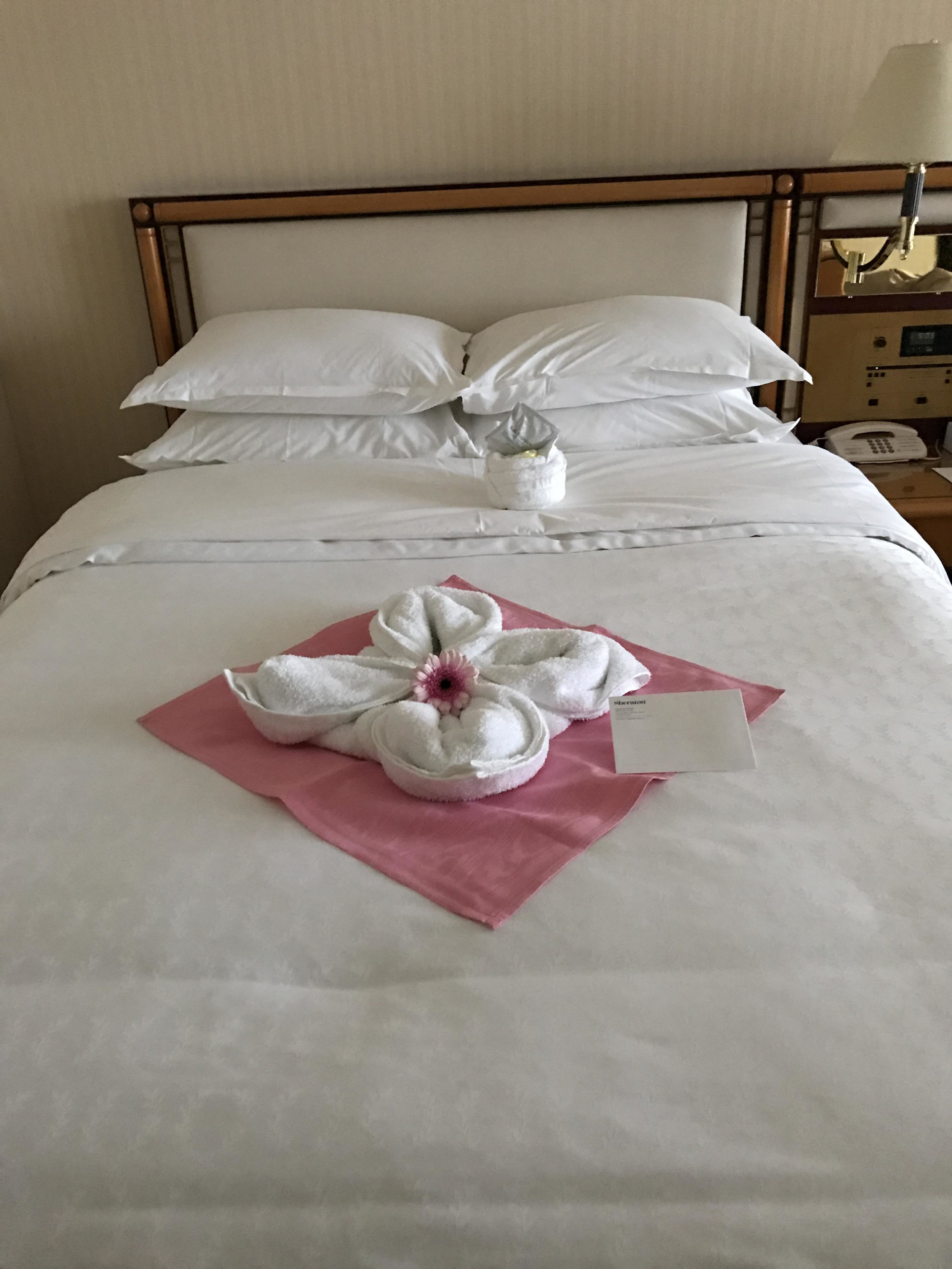 Beautiful towel decoration