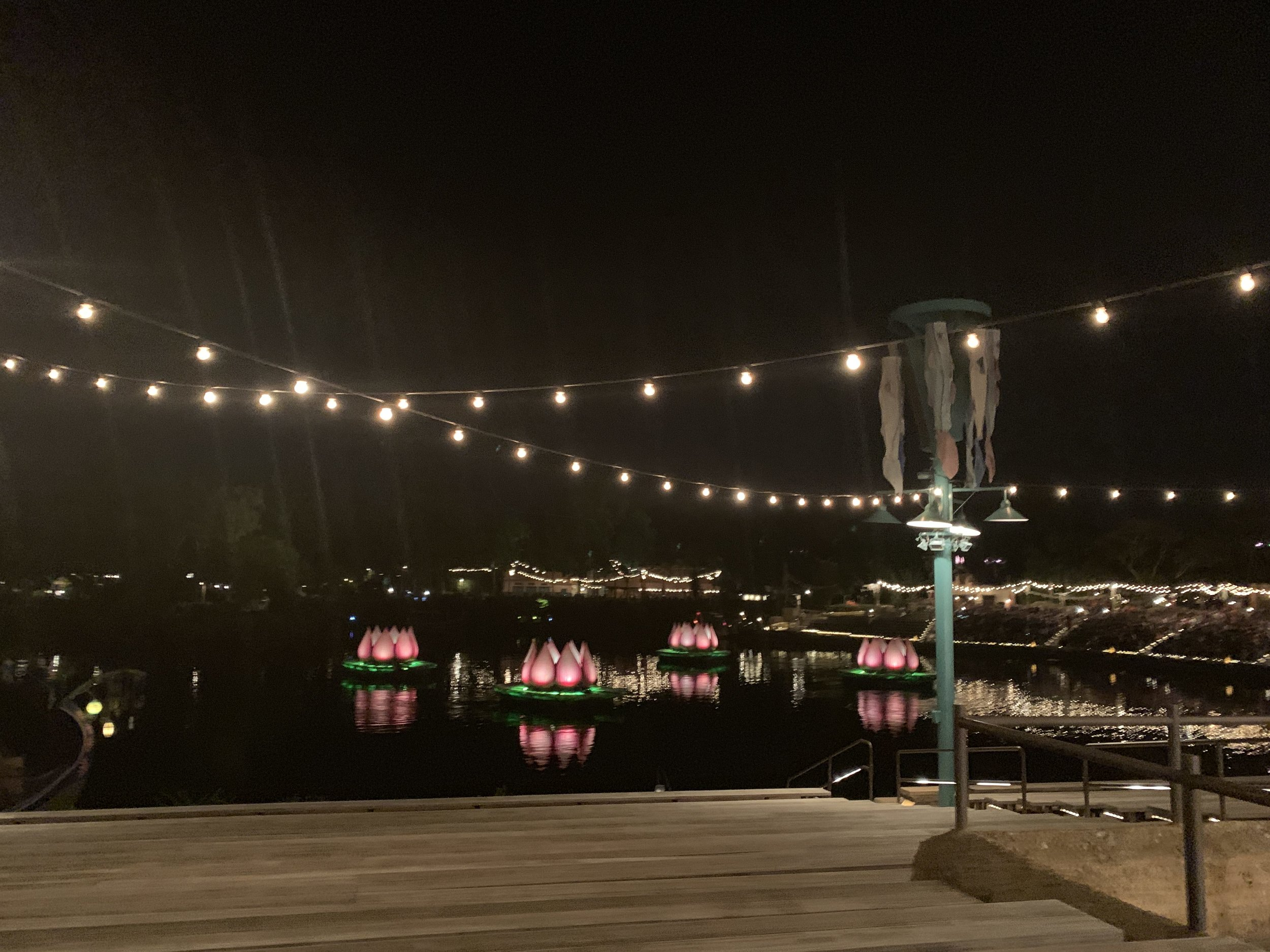 Empty seating for Rivers of Light