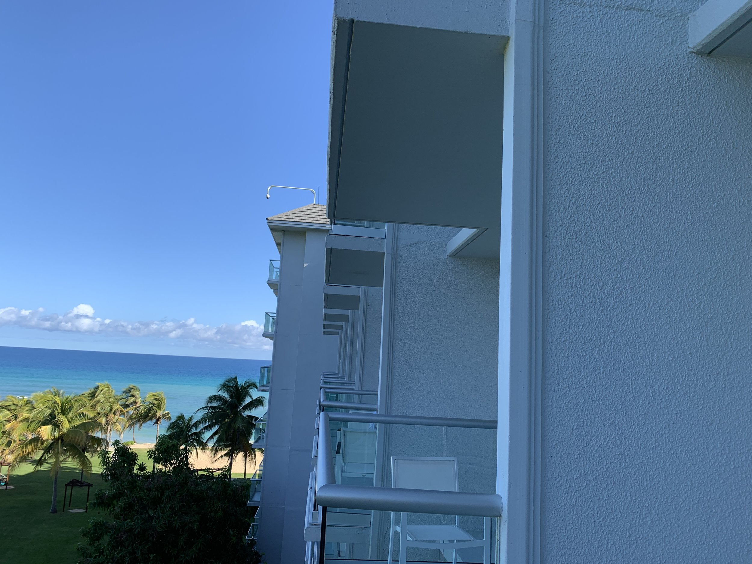 View of closeness to balconies and camera up above