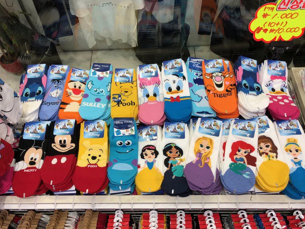 Super cute knock-off Disney socks