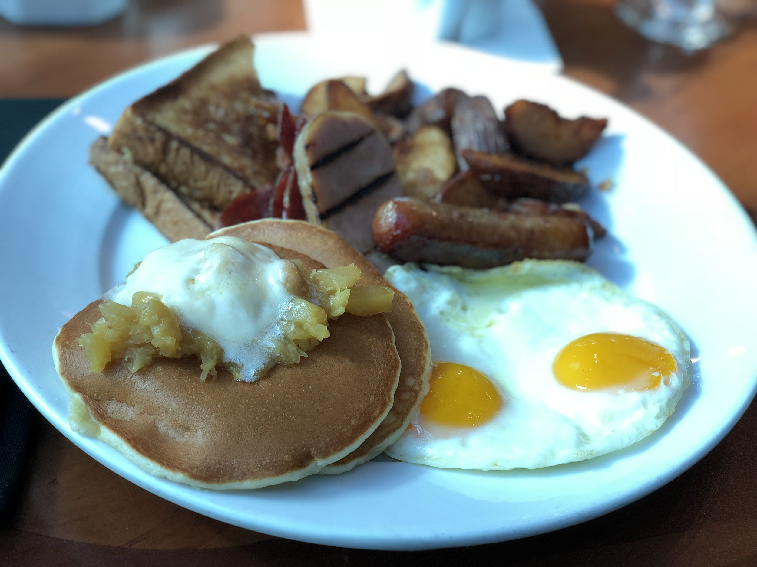 Kona Cafe's Big Kahuna Breakfast. It's not on the menu anymore but they will make it if you ask.