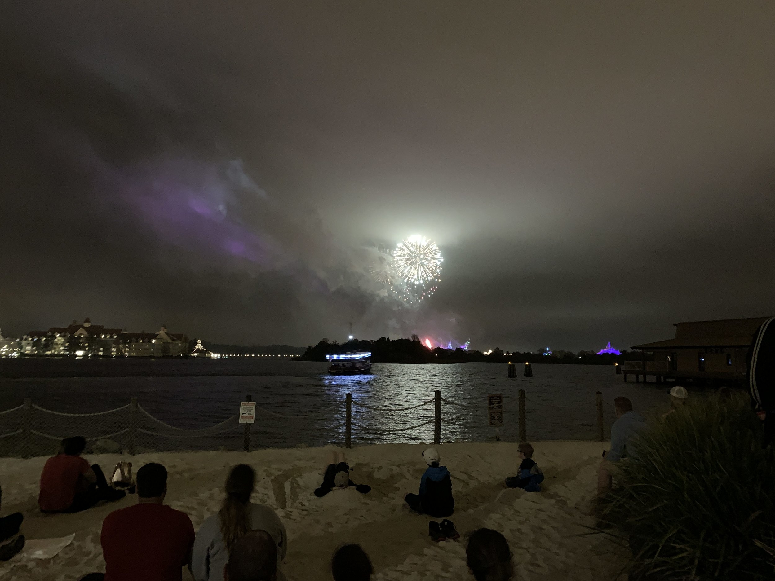 Magic Kingdom Fireworks from the Polynesian Resort's Beach