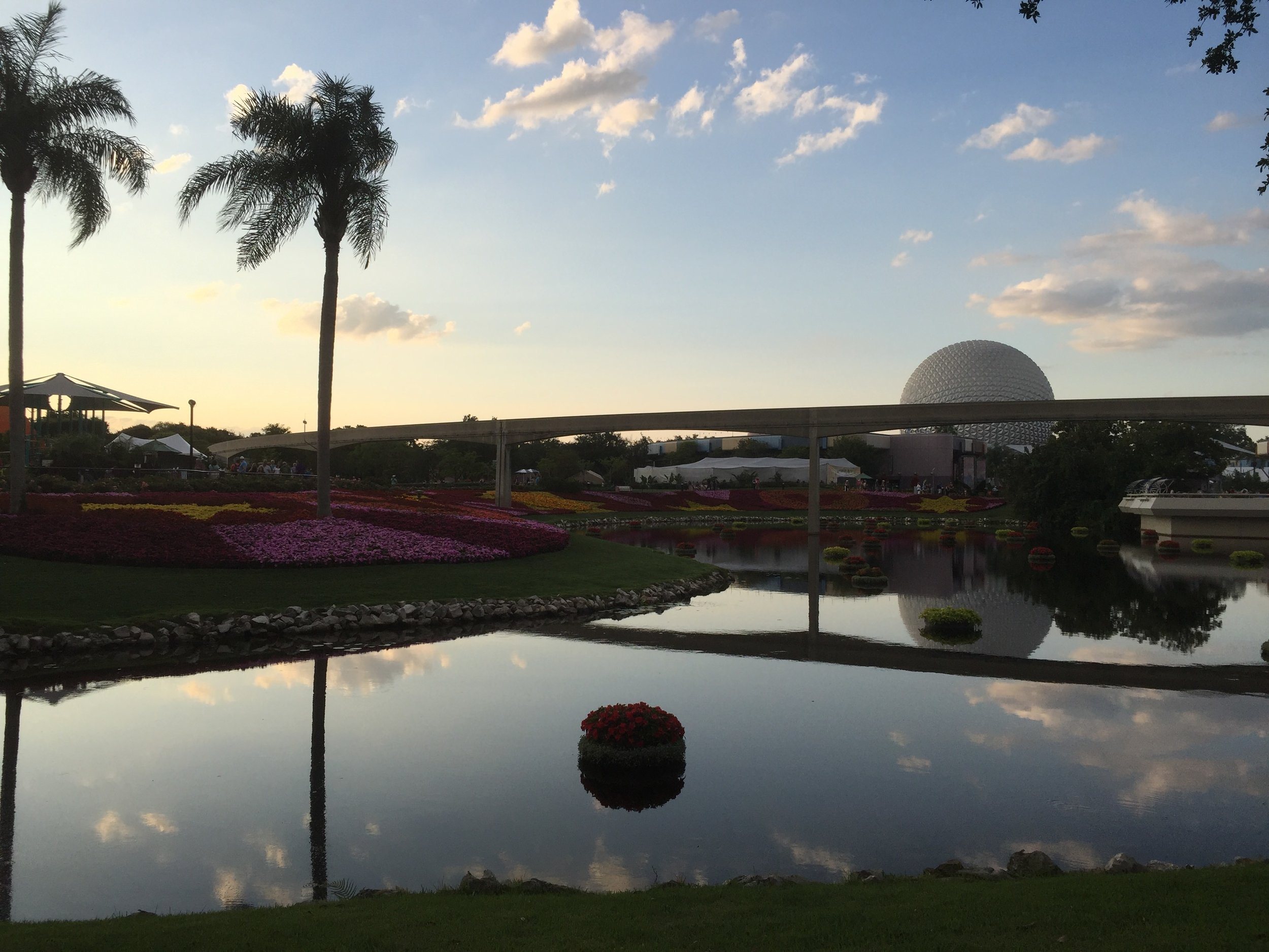 Epcot during the Flower and Garden Festival.