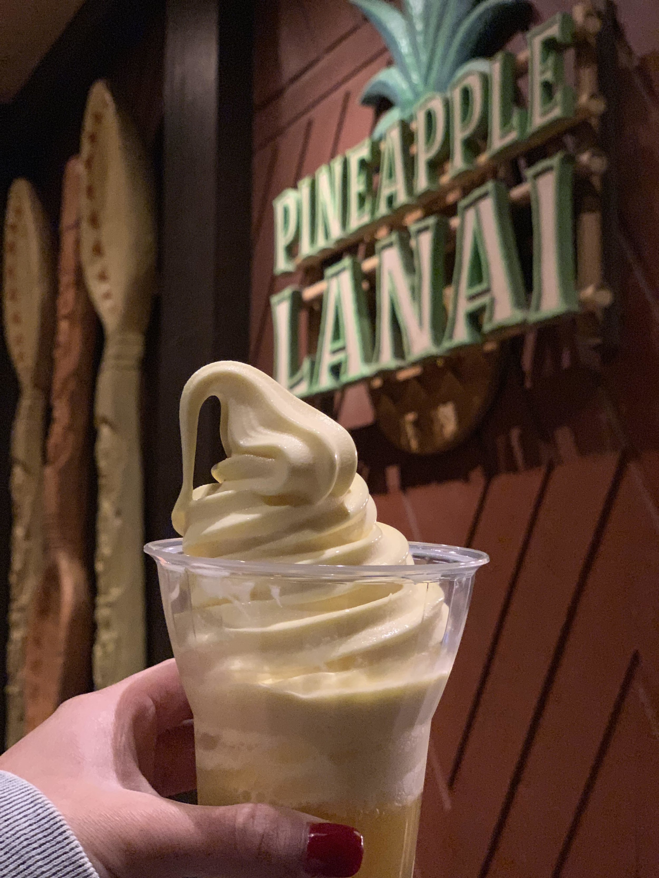 Dole Whip Float from the Polynesian's Pineapple Lanai