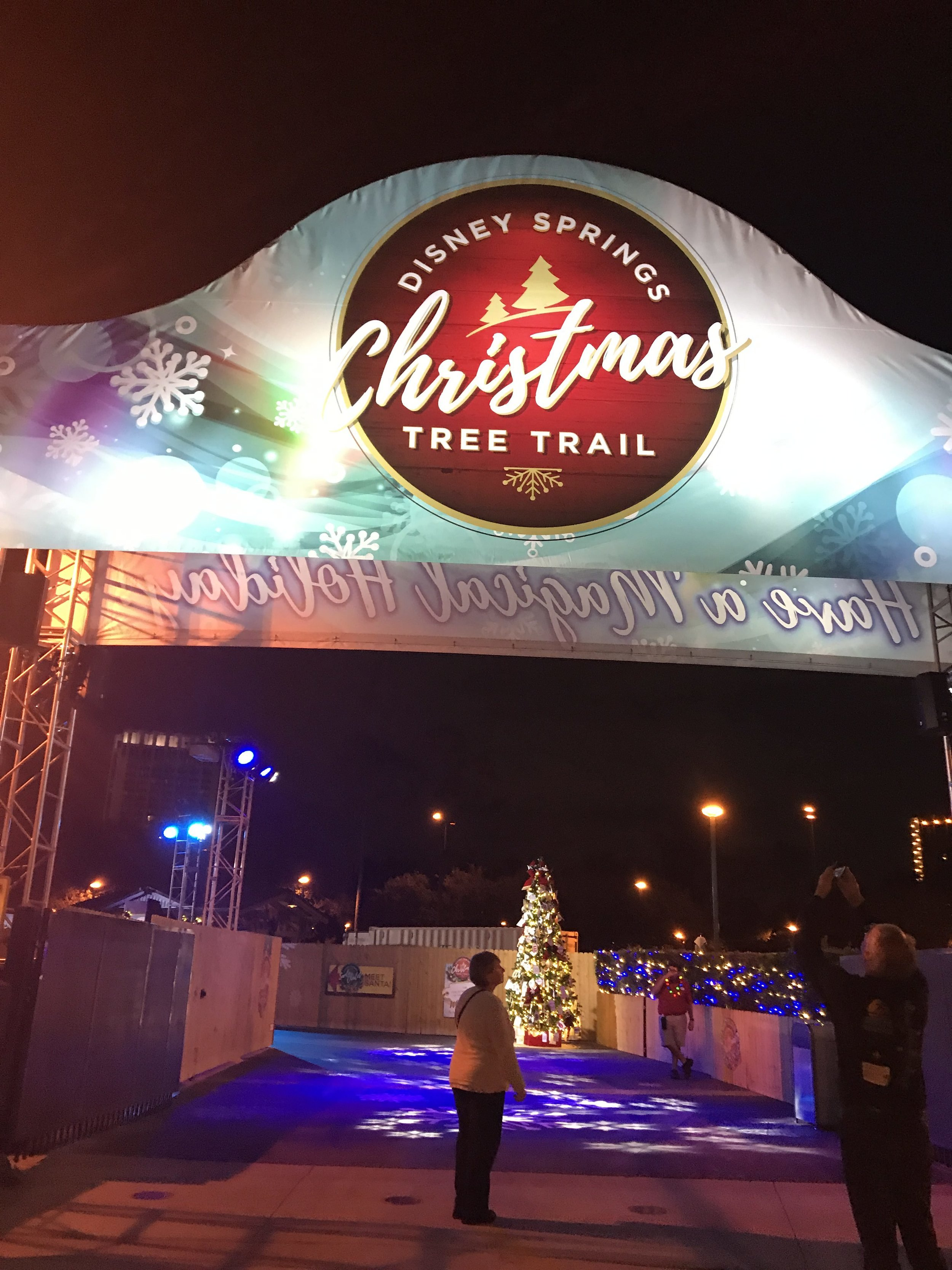 Christmas Tree Trail entrance - just outside of Earl of Sandwich and across from the VOID. Extremely close to Hilton Orlando Buena Vista Palace and the Hilton Orlando Lake Buena Vista