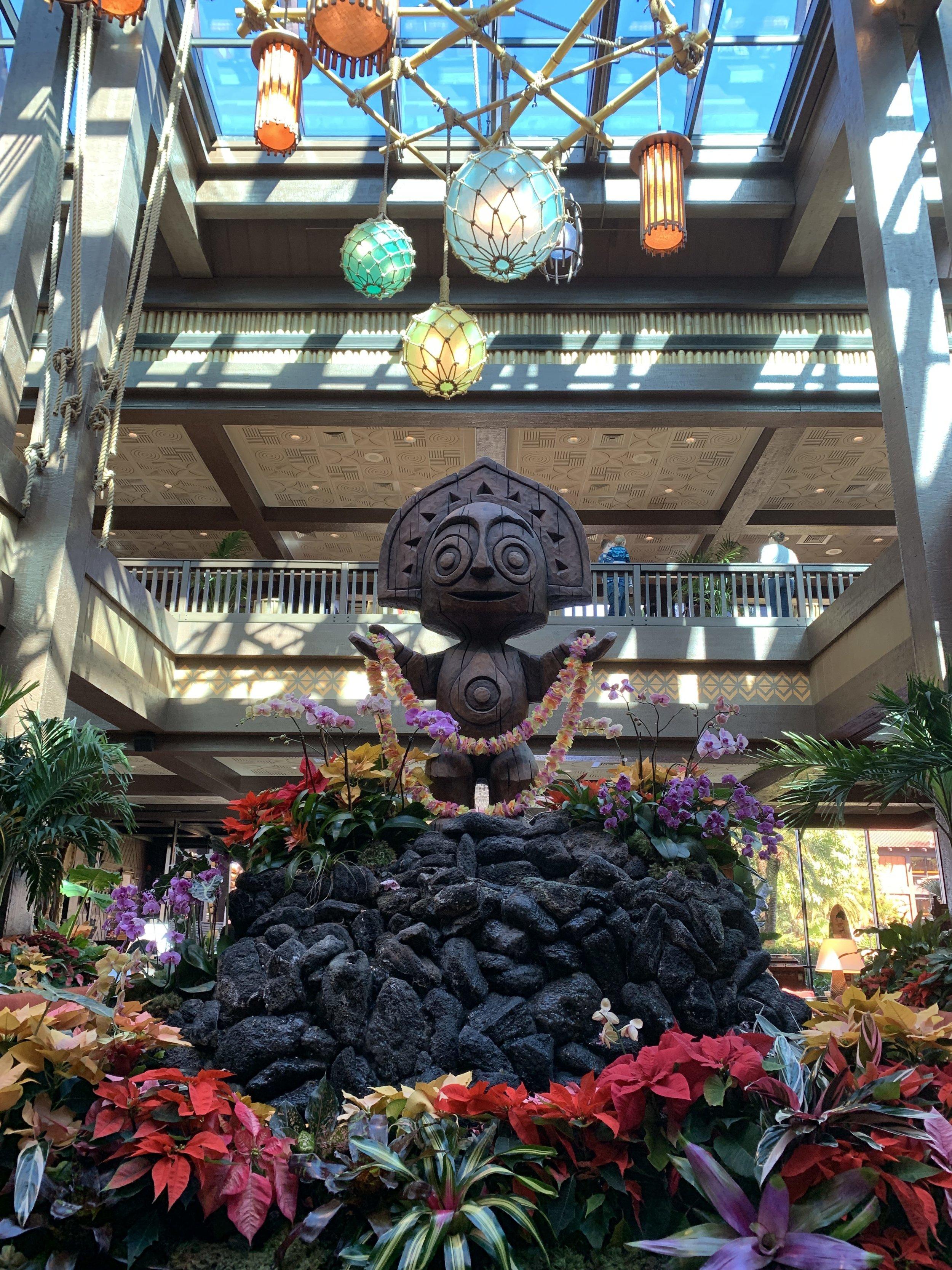 Disney's Polynesian Resort Lobby Decor