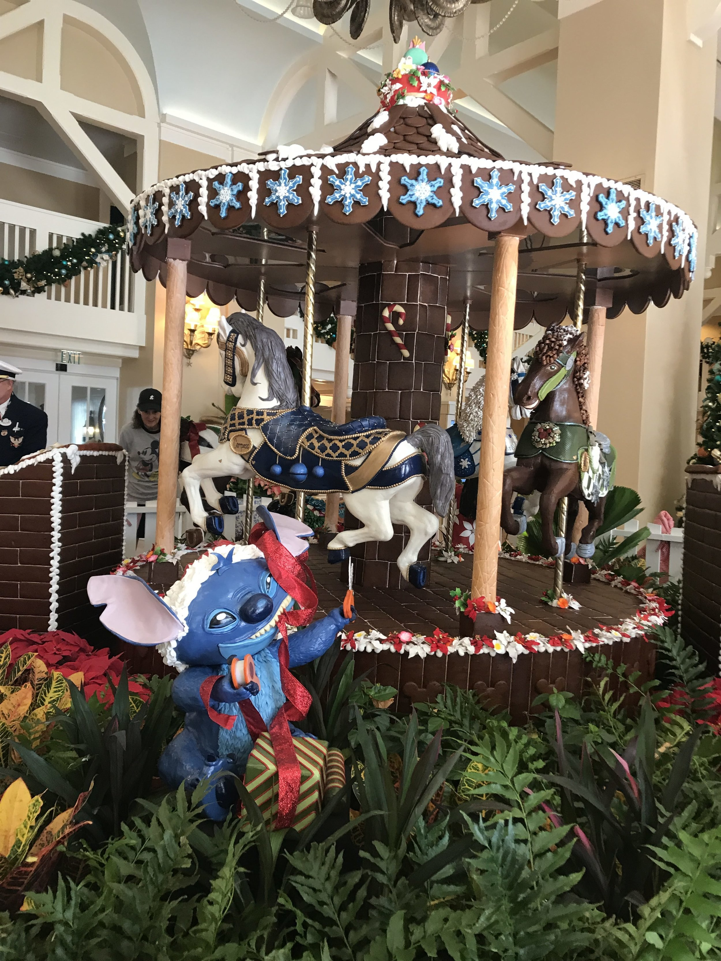 Disney's Beach Club's Chocolate Carousel Display featuring Lilo and Stitch