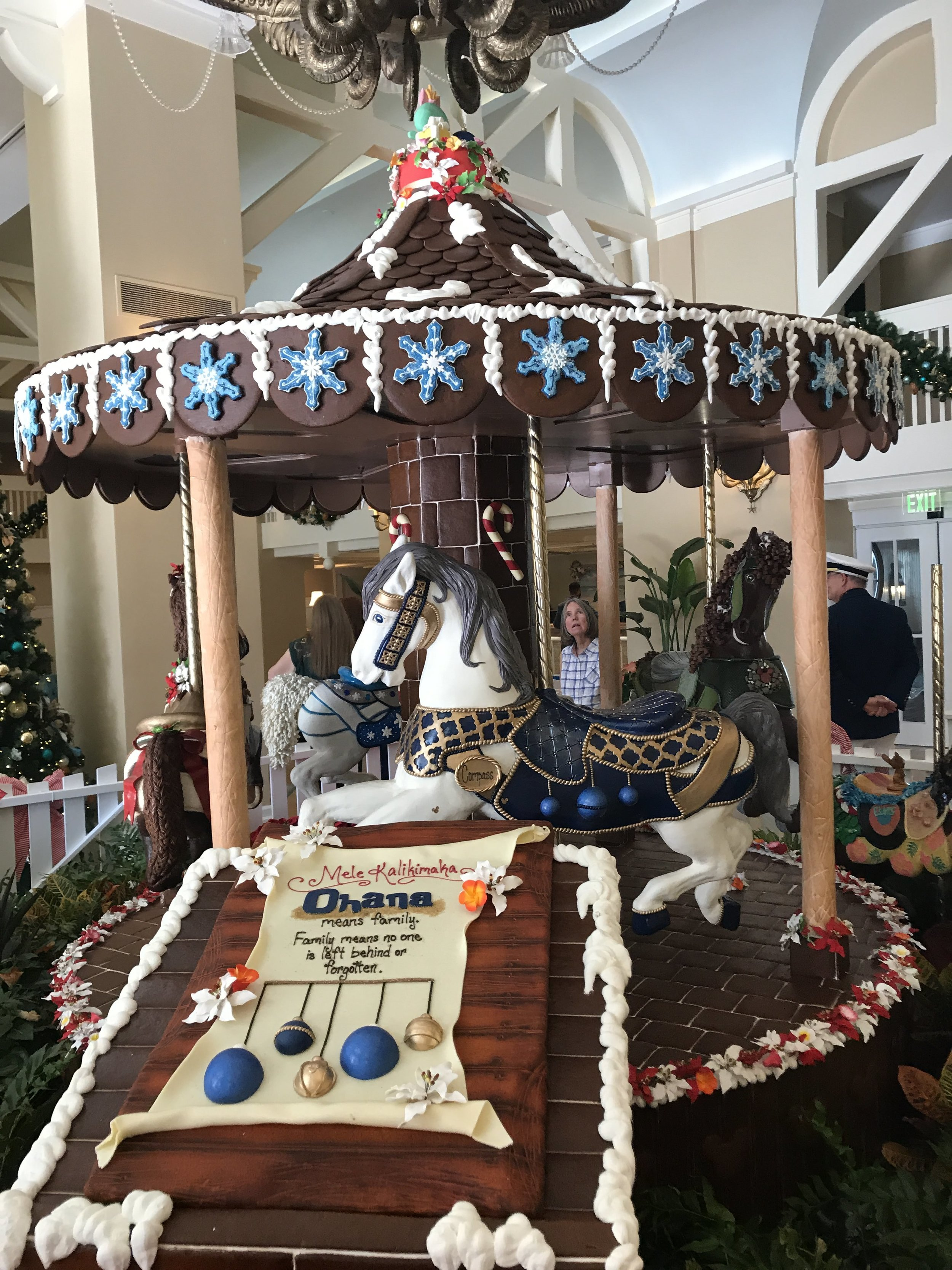 Other side of Beach Club's Chocolate Carousel. Can you believe that this is all chocolate?!