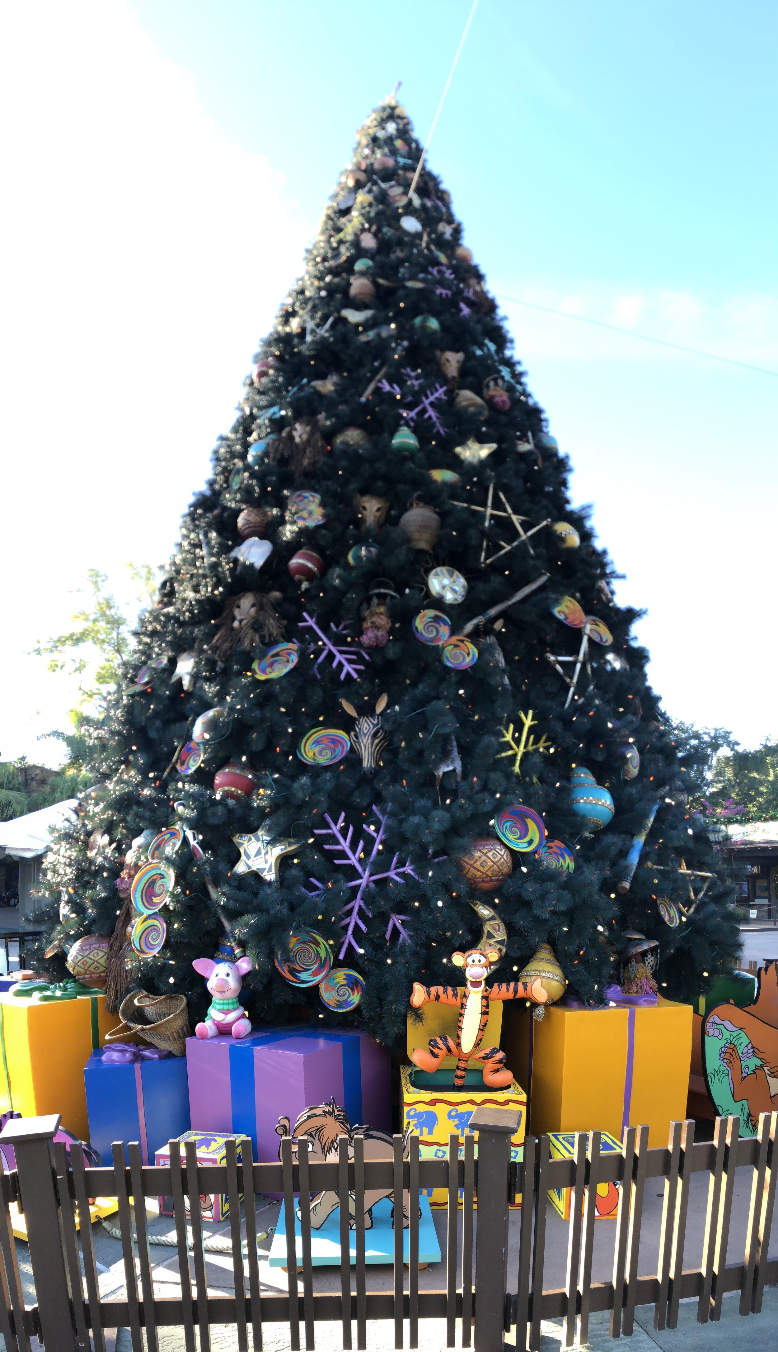 Animal Kingdom's Christmas Tree 2017