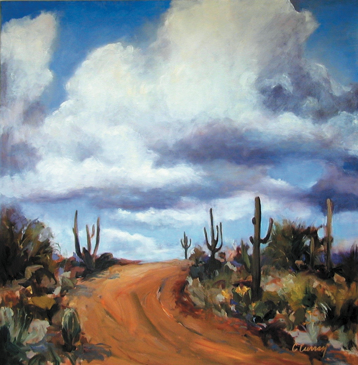 THE ROAD LESS TRAVELED II   40X40, SOLD