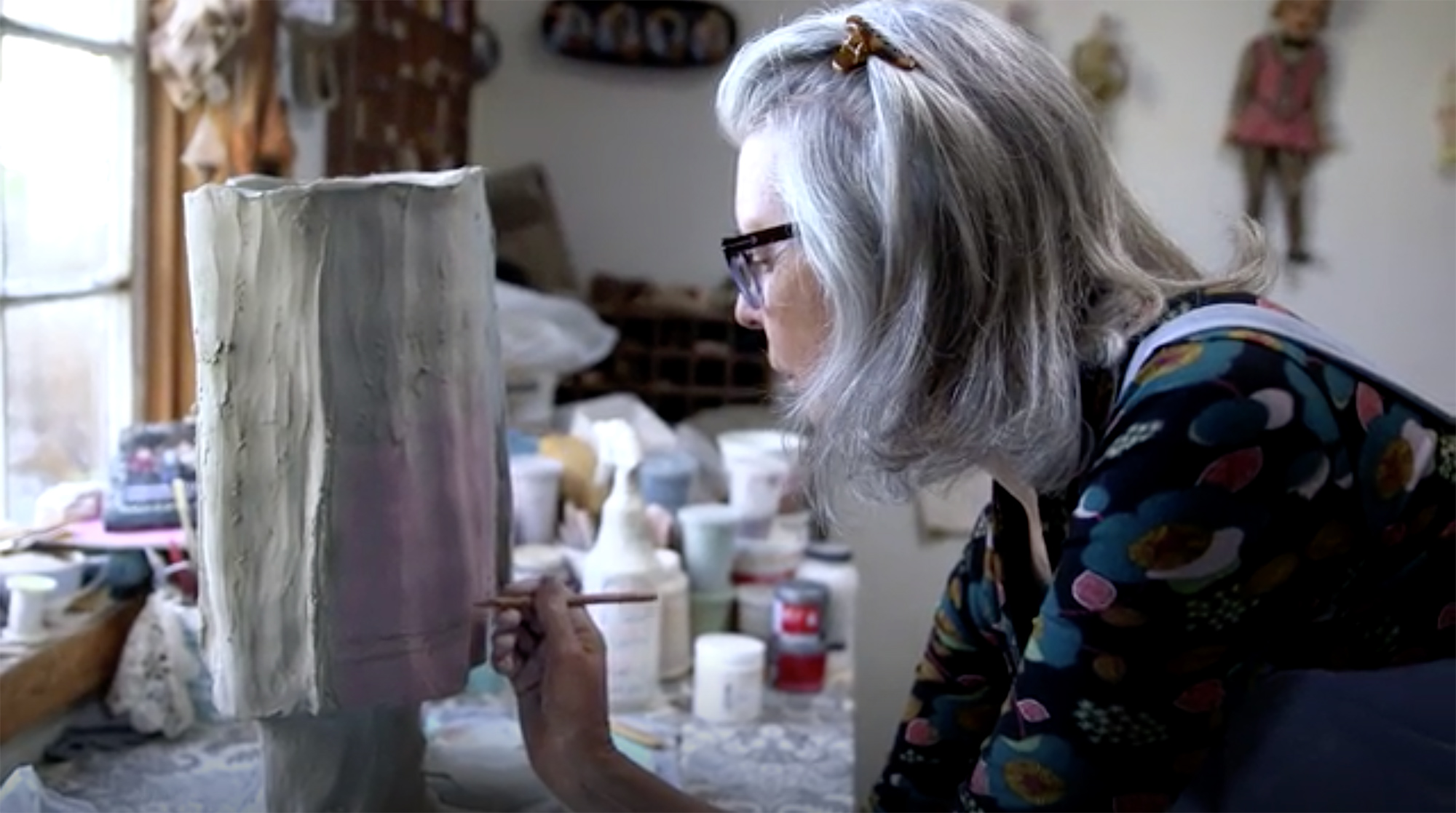 Nuala Creed in her studio. Still from  The Internet Archivists  (2016).