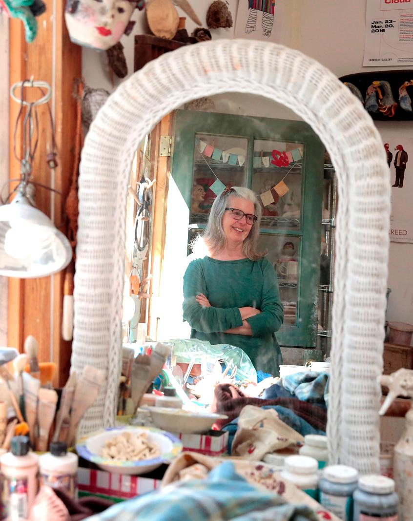 Nuala Creed in her studio.